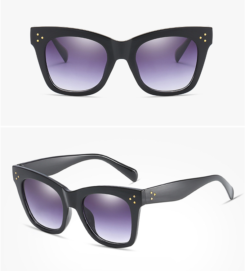 18ea2c960db Luxury Flat Women Sunglasses Chic Brand Designer Vintage Lady ...