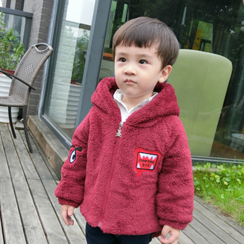 Hot 2016 new childrens clothing baby baby winter clothes cotton boy jacket small dinosaur coral velvet thickening coat jacketОдежда и ак�е��уары<br><br><br>Aliexpress