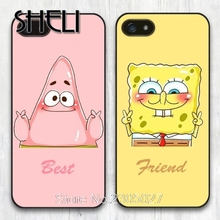 SHELI Best Friend SpongeBob Patrick cell phone Case Cover for iphone 4 4S 5 5S SE 5C 6 6S 7 Plus Samsung galaxy S4 S5 S6 S7 edge(China)