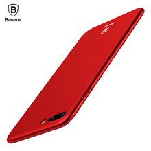 Baseus Luxury Phone Case For iPhone 6 6s 7 Plus Case Ultra Thin Smooth Matte Plastic Cases For iPhone 7 7 Plus Phone Cover Coque(China)