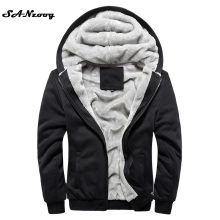 2017 New Autumn Winter Warm Thick Solid Hoodies Mens Sweatshirt Casual Brand Tracksuit Sweatshirts Men Designer Plus Size 4XL
