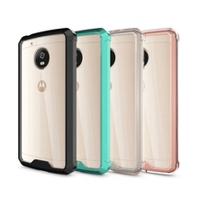TPU Bumper+Acrylic Transparent Clear Back Cover Case For Motorola Moto G5 G5+Plus Protection Air Hybrid Phone Case