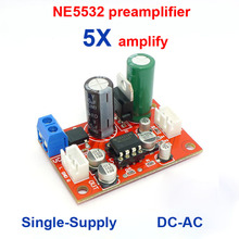 Preamp Stereo HIFI NE5532 Tone Board 5532 Preamplifier Single Power supply DC-AC  op amp 5X audifier 5 Times SEA Kit DIY