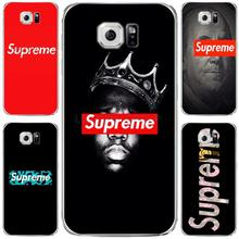 For Fashion Popular Brand Logo Suprem case For Samsung S6 edge galaxy S7 edge Case soft slim silicone Tpu Phone Cover