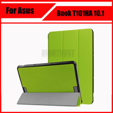 "Luxury Stand Cover PU Leather Case for Asus Transformer Book T101HA 10.1"" Ultra Slim Folding Tablet Cases + Stylus Pen"