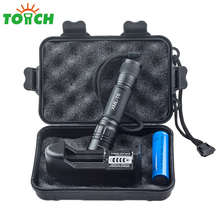 200 Meter Long Distance Hand Torch xml T6 Tactical Zoomable Flashlight Led Mini Portable Gladiator Linterna for Hunting Fishing(China)