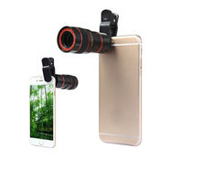 Free Shipping mobile phone telescope 12X telephone optical zoom camera lens for cellphone
