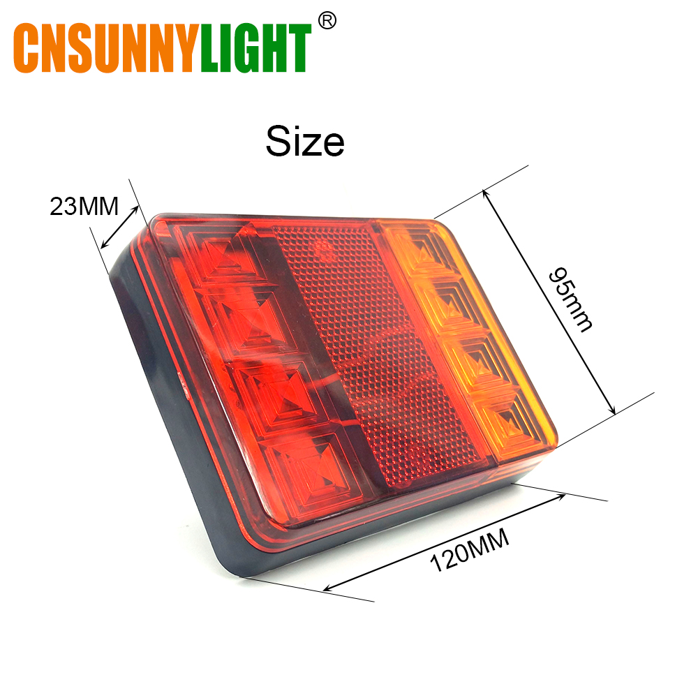 CNSUNNYLIGHT Car Truck Rear Tail Light Warning Lights Rear Lamps Waterproof Tailight Rear Parts for Trailer Caravans DC 12V 24V (5)