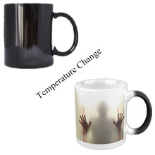 Creative The Walking Dead Changable Color Coffee Heat Reveal Sensitive Morphing Tea Cup Gifts for Children Boyfriend(China)