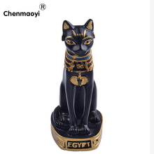 Modern Egyptian cat god ornaments miniature figurines animals crafts office table Decoration 3D home decoration accessories