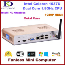 Free shipping Thin client, PC station,Mini Desktop 4GB RAM+64GB SSD Intel Celeron Dual Core,1.8Ghz,Window 7 OS 1080P HDMI,WIFI