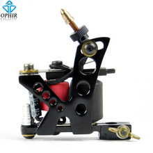 OPHIR Black Rotary Tattoo Gun Dragonfly Rotary Tattoo Machine 8 Wrap Coil Dual-coiled 6V-10V Tattoo Machine Shader Liner#TA019A(China)