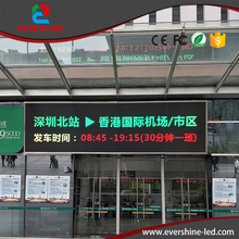 P10 Outdoor Customized LED Sign RG display board double color LED Advertising banner usage for airport,hospital,hotel and square