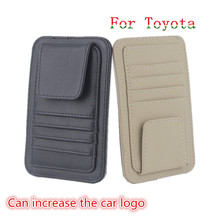 Car-Styling Car SunGlasses Holder Credit Card Clip Sticker Cover For Toyota Hilux Yaris Vios Rav4 Camry Reiz Avensis Corolla(China)