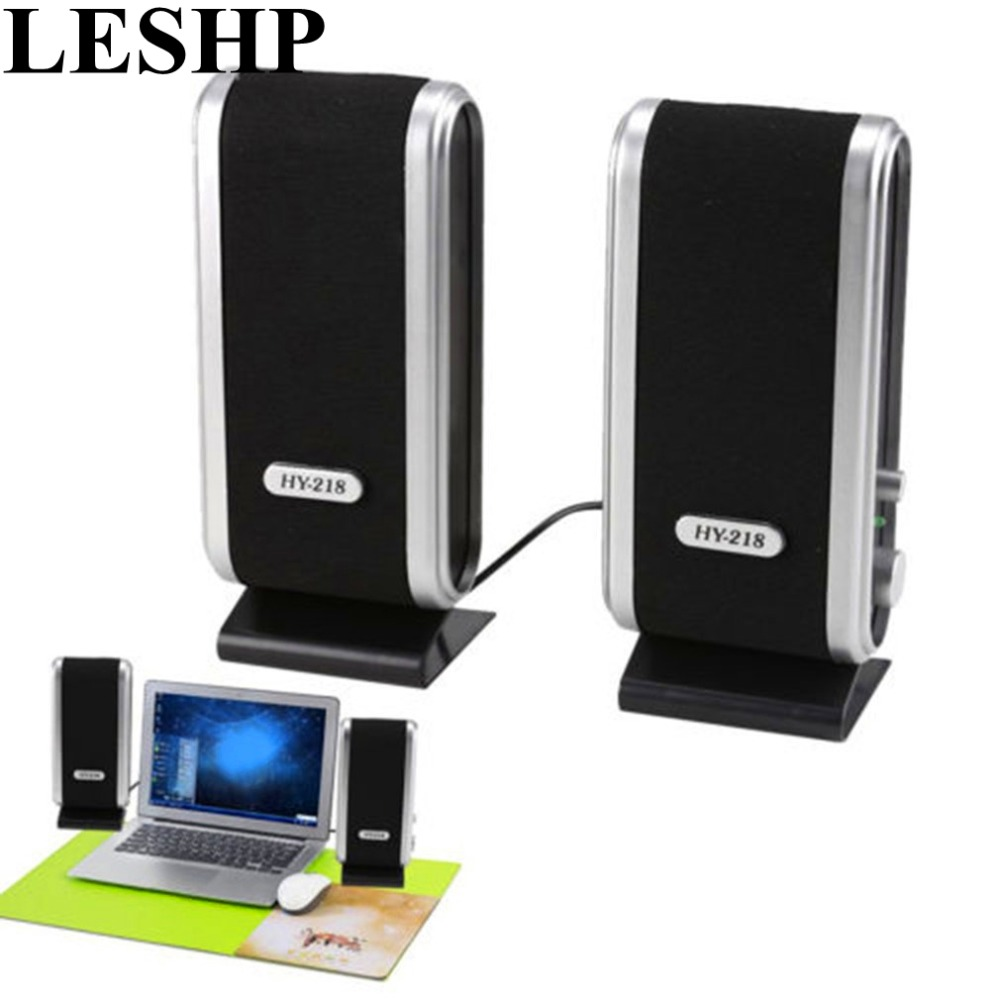 Computer Multimedia Stereo Speakers HY-218 Portable USB Stereo Soundbox High Performance PC Laptop Music Speakers