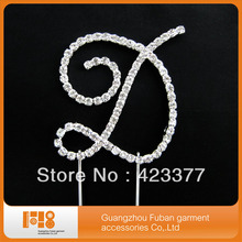 rhinestone letter cake toppers,free shipping