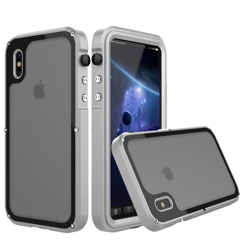 for iphone x metal waterproof case (2)
