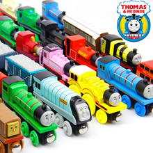 10PCS/LOT New Thomas and His Friends Anime Wooden Railway Trains Toy Model Great Kids Toys for Children Christmas Birthday Gifts