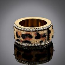 H:HYDE Big Promotion Anel De Ouro Gold Color Leopard Print Fur Rings Gold Filled Ring Korean Drama Hot Fashion Ring Jewelry
