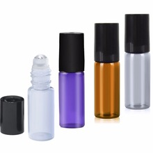5ml 3 Color Mixed Glass Essential Oil Roller Bottle Useful for Aromatherapy Perfumes And Lip Balms Glass Roll on Bottle #88138