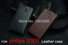 New Original High Quality for PHILIPS s308 Genuine Leather Case Flip Covers For PHILIPS s 308 Case Phone Cover Free Shipping(China)