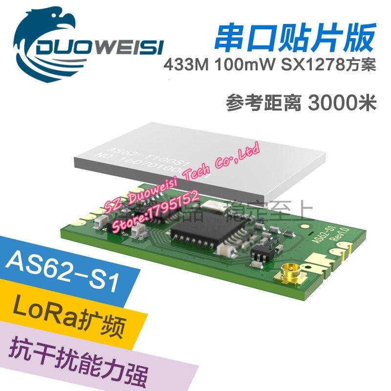 SX1278 Wireless Module | 433MHZ Wireless Serial Port | LORA Spread Spectrum 3000m | Patch | IPEX Interface<br>