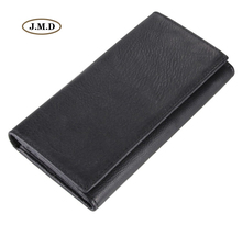 J.M.D Hot Selling Genuine Leather Long Purse Business Men Card Holder Fashion Style Wallet Money Holder 8058A/C(China)