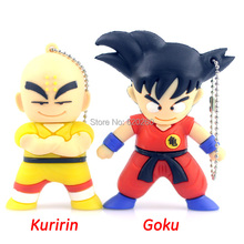 64GB Free shipping! Cartoon Pendrive Dragon Ball usb flash memory stick thumb drive 4gb 8gb 16gb 32gb 64gb Kuririn/Goku pendrive