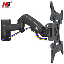 NB F300 TV Wall Mount 30-40 inch Monitor Holder Gas Spring Free Lifting Swivel Stretchable Tilt Stands Aluminum Long Arm Bracket(China)