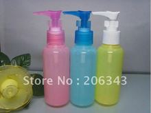 Free shipping:  100ml pet colorful duck mounth bottle or lotion bottle or shampoo bottle with bird mouth shape