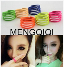 ra024 2015 Hot new fashion cute candy colored fluorescent spiral spring thin circle jewelry wholesale