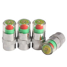 Newest 4 Pcs Car Auto Tire Monitor Valve Dust Cap Pressure Indicator Sensor Eye Alarm Systems High Quality Car Electronics