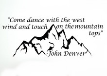 QF6 Home Quote John Denver Come Dance With TDecal Family Living Room Vinyl Carving Wall Decal Sticker for Home Window Decoration