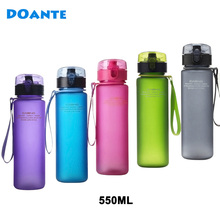 DOANTE Brand 550ml BPA Free Leak Proof Sports Water Bottle Top Quality Tour hiking Portable Climbing Camp Bottles(China)