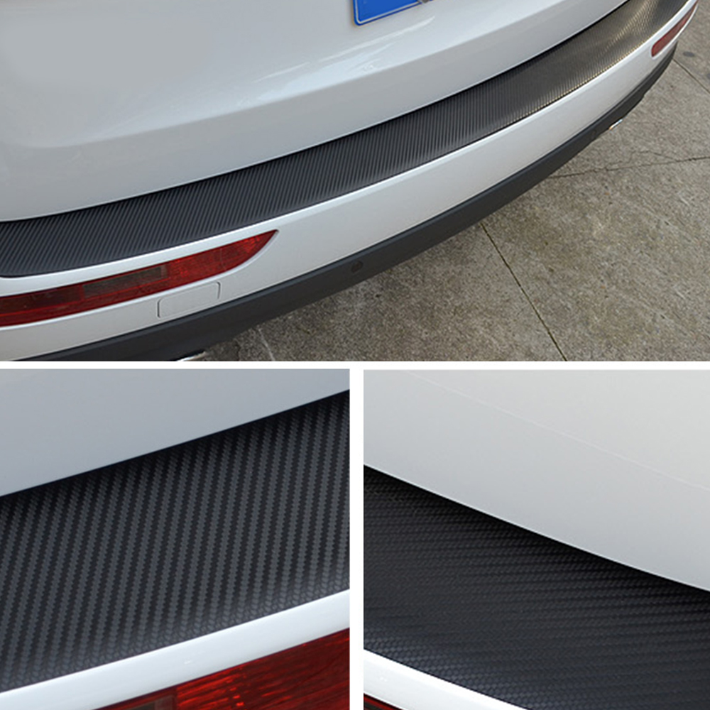 BLACK CARBON FIBRE Effect Door Step Sill Protectors fits SKODA 02B