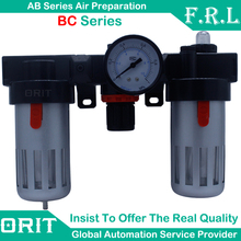 Free Shipping Airtac Series Air Oil Water Separator Filter Regulator Lubricator Combination Pressure FRL Source Treatment Unit