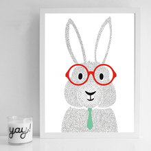 Nursery Wall Art Canvas Posters Prints Cartoon Rabbit Painting Decorative Picture Nordic Kids Bedroom Decoration(China)