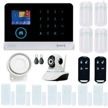 YB103 Wireless Alarmsystem Remote APP Control WiFi Home Alarm System RFID Wireless GSM Home Security With IP Camera