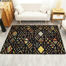 PAYSOTA Modern Creative Carpet Geometric Fashion Trends  Living Room Coffee Table Sofa Bedroom Bedside Short Fiber Covered Rug