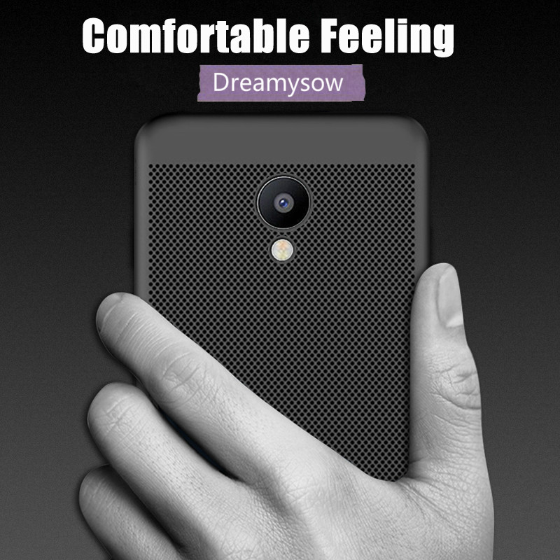 Breathable Shockproof Cover For Meizu Pro 7plus M5s M5 M3 M6 Note M5c M15 Luxury Heat Dissipation Pc Case Smart Phone Cases Fitted Cases