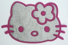FREE SHIPPING - Pink Hello Kitty Iron On Patches Clothes Tee Shirt Hat Jean shoes Pet Clothing Silvery Gifts