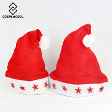 [COSPLACOOL] Merry Christmas electronic cap Merry Christmas LED five star Christmas hat women and men hats