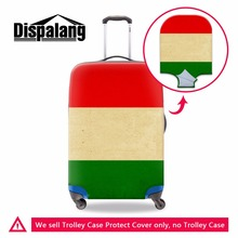 Hungary National Flag Luggage Covers Waterproof Suitcase Protective Cover Elastic Polyester Travel Luggage Protectors 18-30 inch
