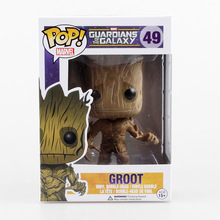 12cm 1PCS Marvel Funko Pop Guardians of the Galaxy Groot Tree Man Action Figure Collection Bobblehead Doll Western Animation
