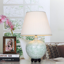 Jingdezhen Vintage style porcelain ceramic desk table lamps for bedside chinese Porcelain table lamp modern