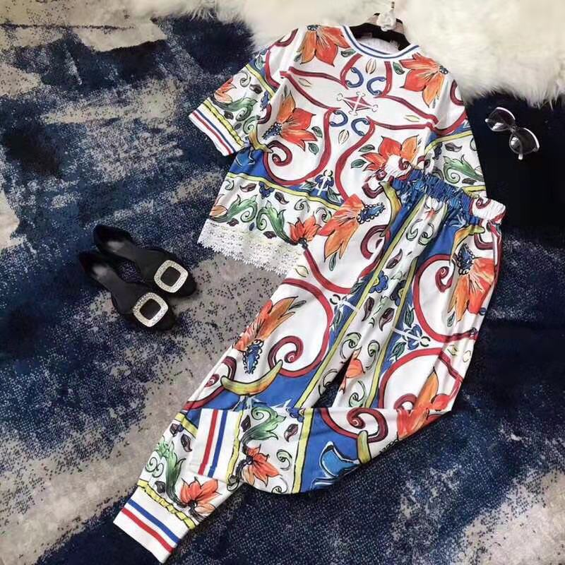 Fashion women's Sets 2019 Runway Luxury famous Brand European Design party style women's Clothing   WD0376