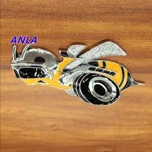 3D metal Emblem Badge animal sticker hornets Big Yellow bees tire motorcycle car styling ForChevrolet cruze Dodge Chrysler