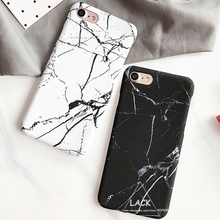 HOT Case for iphone 7 Hard PC Marble Stone Painted Phone Cases Cover for iphone 7 Plus 6 6S Case Fashion White Black Capa Newest