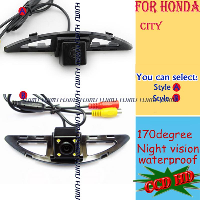 wired wireless LEDS HD night vision CAR Rear View CAMERA for sony CCD Honda CITY 2008 2011 2012 2014 parking assist(China (Mainland))