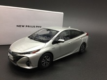 Silver 1:30 TOYOTA New Prius PHV 2017 Diecast Model Car